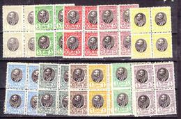 SERBIA: 1905, MNH PETRA SET IN BLKS OF FOUR. Mi84/94 - Serbien