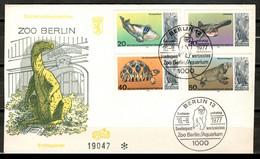 Germany Berlin 1977 Alemania / Animals Reptiles Berlin Zoo FDC SPD Fauna Peces Reptiles Fische Reptilien / 0911 35-44 - Peces