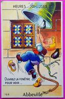 Carte à Système Abbeville Carte Postale 80 Somme Proche Le Crotoy Peu Courante - Abbeville