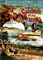 P24516 -  CHEMIN DE FER D ORLEANS  ET DU MIDI  L HIVER AU GOLFE DE GASCOGNE ET AUX PYRENEES - Railway