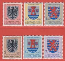 1956 Luxemburg ** (sans Charn., MNH, Postfrisch)  Yv  520/5Mi  561/6 - Nuevos