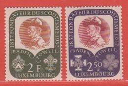 1957 Luxemburg ** (sans Charn., MNH, Postfrisch)  Yv  526/7Mi  567/8 - Nuevos