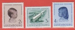 1957 Luxemburg ** (sans Charn., MNH, Postfrisch)  Yv  528/30Mi  569/71 - Nuevos