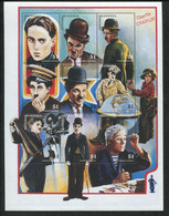 Antigua And Barbuda, 1997, Charlie Chaplin, Actor, Movie, Film, MNH Sheet, Michel 2451-2459 - Antigua E Barbuda (1981-...)