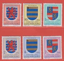 1957 Luxemburg ** (sans Charn., MNH, Postfrisch)  Yv  534/9Mi  575/80 - Nuevos
