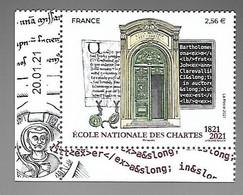 France 2021 - École Nationale Des Chartes ** (coin Daté) - Ungebraucht