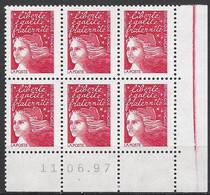 CD 3083 FRANCE 1997 COIN DATE 11 / 08 / 97  MARIANNE DE LUQUET - 1990-1999
