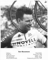 CYCLISME: CYCLISTE : FORMAT 17X21:EDDY BOUWMANS - Ciclismo