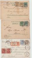 """LOT  """"  ENVELOPPES -  CARTE POSTALE...... -  ENTIERS POSTAUX .... """" D'  ALLEMAGNE -1909-1908-1884-1899-1892-1901 - Entiers Postaux"""