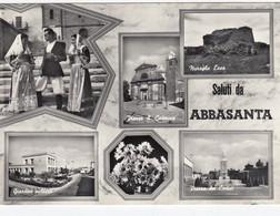 ABBASANTA-ORISTANO-SALUTI DA..6 VEDUTINE- CARTOLINA VERA FOTOGRAFIA- VIAGGIATA IL 20-9-1959 - Oristano