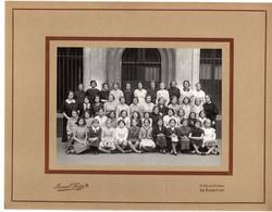 PHOTO DE CLASSE PRIMAIRE FILLES- 1960 - DIM 27X21 CM - Andere