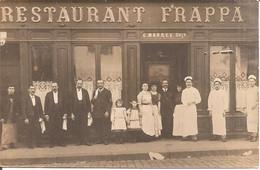 SAINT-ETIENNE (42) RARE CARTE PHOTO RESTAURANT FRAPPA Avec Le Personnel En 1910 - Saint Etienne