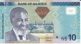 BILLETE DE NAMIBIA DE 10 DOLLARS DEL AÑO 2012 SIN CIRCULAR (UNCIRCULATED)  (BANKNOTE) GACELA-DEER - Namibia