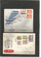 BRUXELLES-GENEVE-KANO-LEOPOLDVILLE - 19-1-1960 - Timbres Suisse - Belgique (Ieper, Mons, Eupen-Malmedy, Antwerpen) - Airplanes