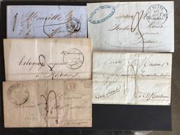 Petit Lot De 5 Lettres - 1801-1848: Précurseurs XIX