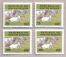 SOUTH SUDAN Proof Unissued Issue 2019 Overprint Cattle SOUDAN Du Sud Südsudan - South Sudan