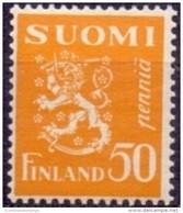 FINLAND 1930 50p Geel Leeuw Type II PF-MNH - Neufs