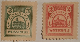 Germany Deutsches Reich Privatpost/Stadtpost  Weissenfels  2 Pfg & 3pfg - Sello Particular
