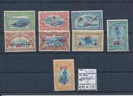 BELGIAN CONGO  SHORT SET 1918  ISSUE RED CROSS COB 72/79 LH/MNH - 1894-1923 Mols: Nuevos