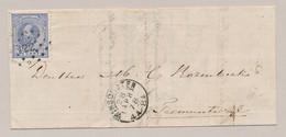 Nederland - 1878 - 5 Cent Willem III Op Cover Van 2Letter- En Puntstempel Winschoten Naar Termunterzijl - Poststempel