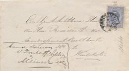 Nederland - 1885 - 5 Cent Willem III Op Envelop Van L WEDDE Naar KR Winschoten - Poststempel
