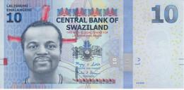 BILLETE DE SWAZILAND DE 10 EMALANGENI DEL AÑO 2010 SIN CIRCULAR  (BANKNOTE) UNCIRCULATED - Swaziland