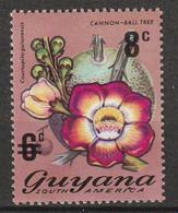 GUYANA - N°436 ** (1974) Fleurs - Surchargé - - Guyane (1966-...)