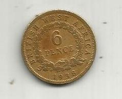 Monnaie, GRANDE BRETAGNE , Colonie , British West Africa , 6 Pence , 1938 ,  2 Scans - Colonies