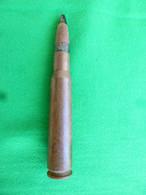 Douille Percutée Marquée DM 43 + Ogive, Sorties De Terre Cal 50 BMG - Courrier Ordinaire - Decorative Weapons