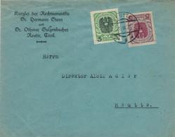 RA Dr. Hermann Stern Reutte Tirol 21.III.1922 - Ortsbrief - Judaika ✡ [Opfer Der Neuen Machthaber In R.] - Plansee-Werk - Lettres & Documents