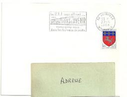MARNE / HAUTE Dépt N° 52 = JOINVILLE 1968 =  FLAMME Codée SUPERBE = SECAP ' Les PTT Vous Offrent SITUATIONS ... - Mechanical Postmarks (Advertisement)