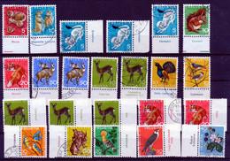 HELVETIA - Selektion 445 - PRO JUVENTUTE - 60 Timbres Avec Tab - 60 Briefmarken Mit Tab - Gest./ Obl. - Usati