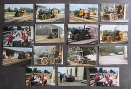 GUERIGNY : Gare, 15 Photos. Locomotive Vapeur, Quais, Batiment.... 2 Sept. 1989  Collection Pérève - Treinen
