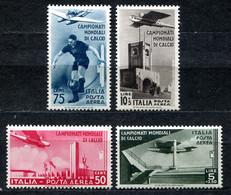Z2433 ITALIA REGNO 1934 Mondiali Di Calcio, Posta Aerea, Serie Completa,  MH* (MNH** I Due Bassi Valori), Valore Catalog - Mint/hinged