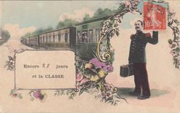 Chemins De Fer - Militaria La Classe- Voyage - Train - Stations - Met Treinen