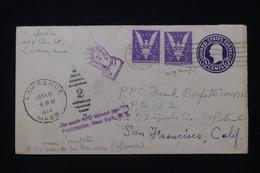 ETATS UNIS - Entier Postal + Complément De Lawrence Pour Un Soldat En 1944 Et Retour, Voir Au Dos - L 90914 - 1941-60
