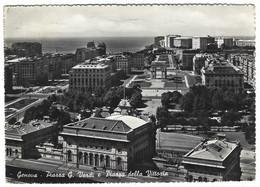 8956 - GENOVA PIAZZA G VERDI E PIAZZA DELLA VITTORIA 1955 - Genova (Genoa)
