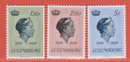 1959 Luxemburg ** (sans Charn., MNH, Postfrisch)  Yv  559/61Mi  601/3 - Nuevos
