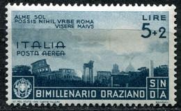 Z2443 ITALIA REGNO 1936 Bimillenario Orazio, Posta Aerea, L. 5, MH*, Sassone A99, Valore Catalogo € 30, Ottime Condizion - Mint/hinged