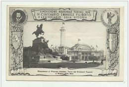 TORINO ESPOSIZIONE 1928 - IV CENTENARIO EMAN. FILIBERTO X ANNIV. DELLA VITTORIA - MON. P. AMEDEO TORRE SIND FASC - NV FP - Non Classificati