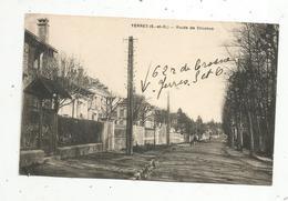Cp, 91,  YERRES ,  Route De CROSNES ,  écrite - Yerres