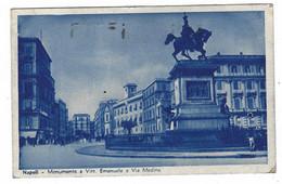 8984 - NAPOLI MONUMENTO A VITT EMANUELE E VIA MEDINA ANIMATA 1937 - Napoli (Napels)
