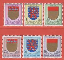 1959 Luxemburg ** (sans Charn., MNH, Postfrisch)  Yv  570/5Mi  612/7 - Nuevos
