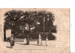 Environs De LYON. Parc Du Casino De Charbonnières-les-Bains. Ecrite En 1902. BON ETAT. Voir SCANS Recto-verso - Charbonniere Les Bains