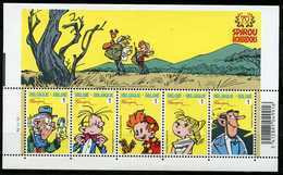 Blok 154** Robbedoes - Spirou - Bloc 3775/79** Feuille MNH - 70 Jaar (Ans) Robbedoes / PL 2 - Bloques 1962-....