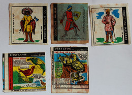 5 Vignettes 1959 Images MALABAR C'est La Vie Walt Disney Krema 1965 Les Indiens 1964 Philippe Le Bel - Andere