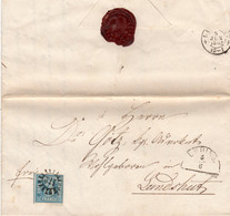 Bayern 1862, MR 112 ERDING Auf Brief M. 3 Kr. N. Landshut - Bavière