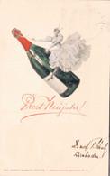 79276- Künstler Karte Theo Stroefer Nürnberg.Serie XVIII.Nr.4, Prosit Neujahr 1900 - Altre Illustrazioni