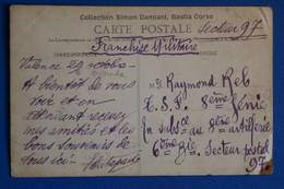 L21 FRANCE BELLE CARTE  1943 CORSE POUR SECTEUR POSTAL 97 + AFFRANCHISSEMENT INTERESSANT - Lettres & Documents