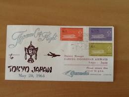 Indonesia . Thomas Cup Flight Djakarta - Tokyo 20-5-64. - Indonesia